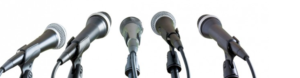microphone banner interpreting